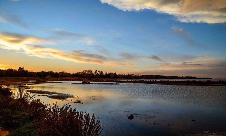 Sunset lake Sabaudia