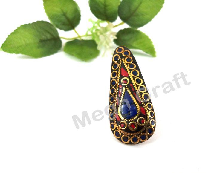Indian Fashion Ring- Costume Boho Ring- Gypsy Style Fashion Ring- BY #CraftsOfGujarat #craftnfashion #meghcraft #indianethnicjewery