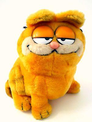 Garfield Sitting Plush Animal Orange Black Stripes Tabby Cat Dakin Vintage 1981