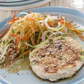 Hamburger di pollo alla salsa di soia | Donna Moderna