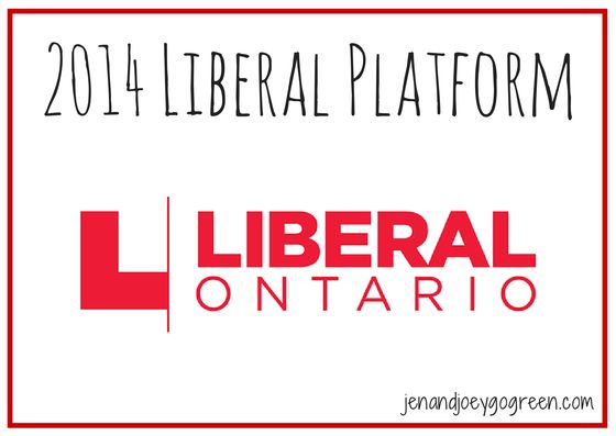 2014 Liberal Platform - Focus on environment, food, transportation, energy, health care and education.