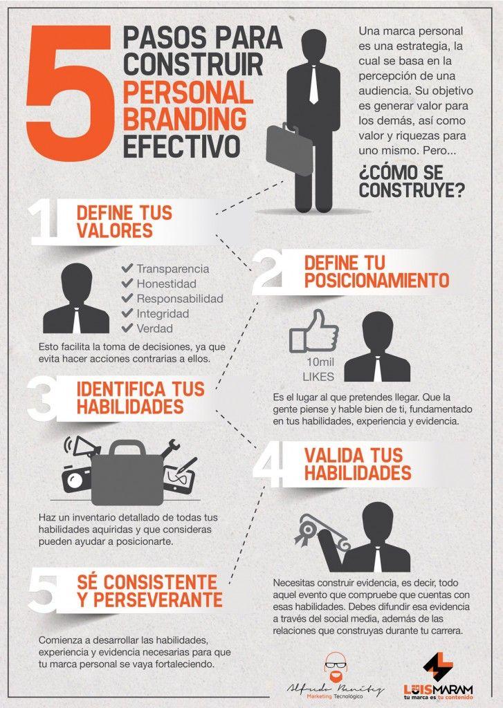 5 consejos para construir branding personal brand #infografia #personal #brand @boribedi