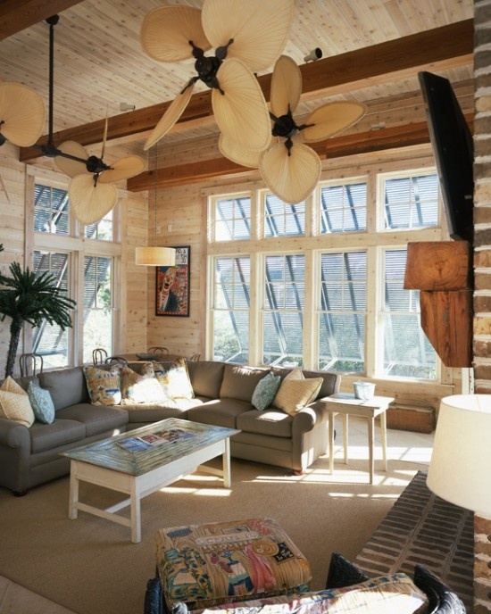 116 best tropical ceiling fan images on pinterest blankets switch the fan blades for these or leave white to blend in with ceiling aloadofball Image collections