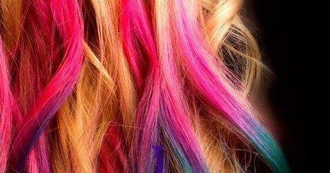 Hair chalk, craie cheveux pas chere, cheveux roses, cheveux bleus, coloration rose