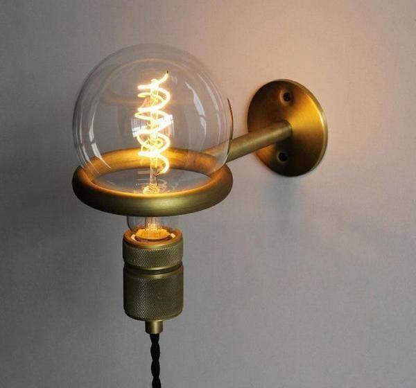 Avita Modern Nordic Wall Mounted Bulb Ring Holder Wall Mounted Light Bulb Light Bulb Ring