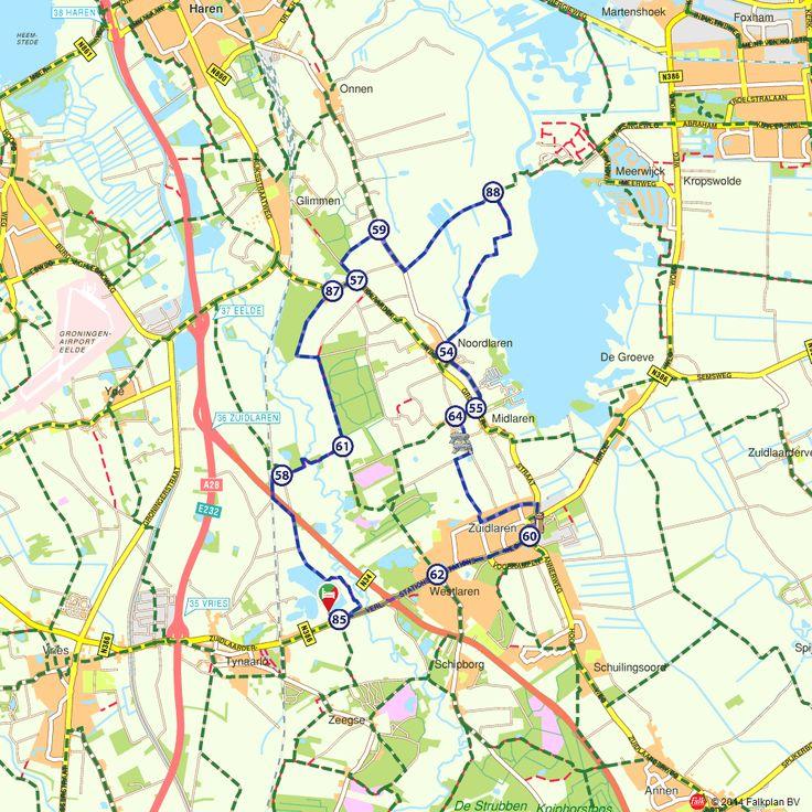 Fietsroute: Noord-, Mid- en Zuidlaren (http://www.route.nl/fietsroutes/138537/Noord--Mid--en-Zuidlaren-/)