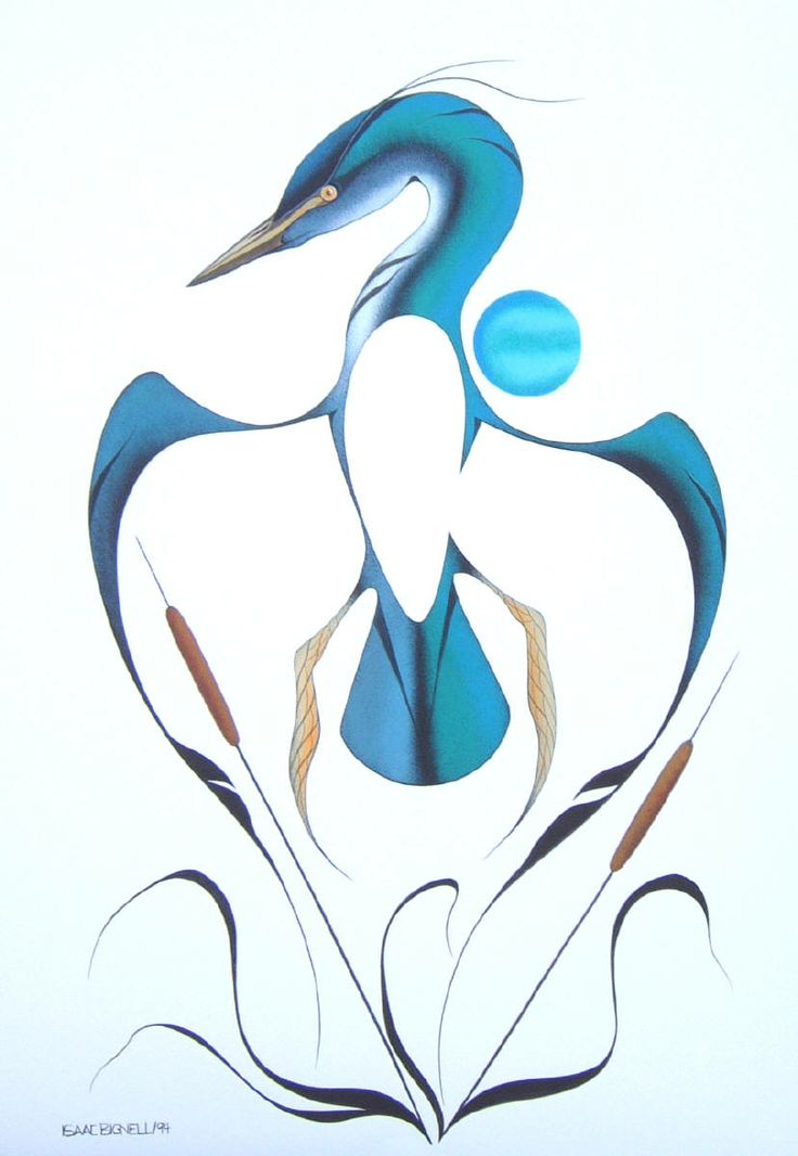 Artist: Isaac Bignell, Title: Heron - kK