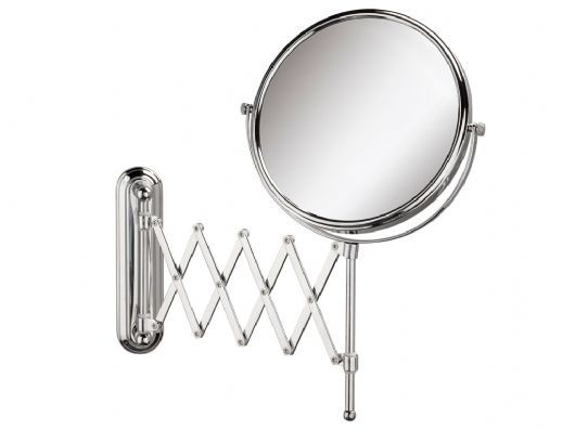 Photo On Our Extendable Wall Mounted Mirror will accentuate any bathroom with its convenient tilt able function this mirror will enable you to plete any task