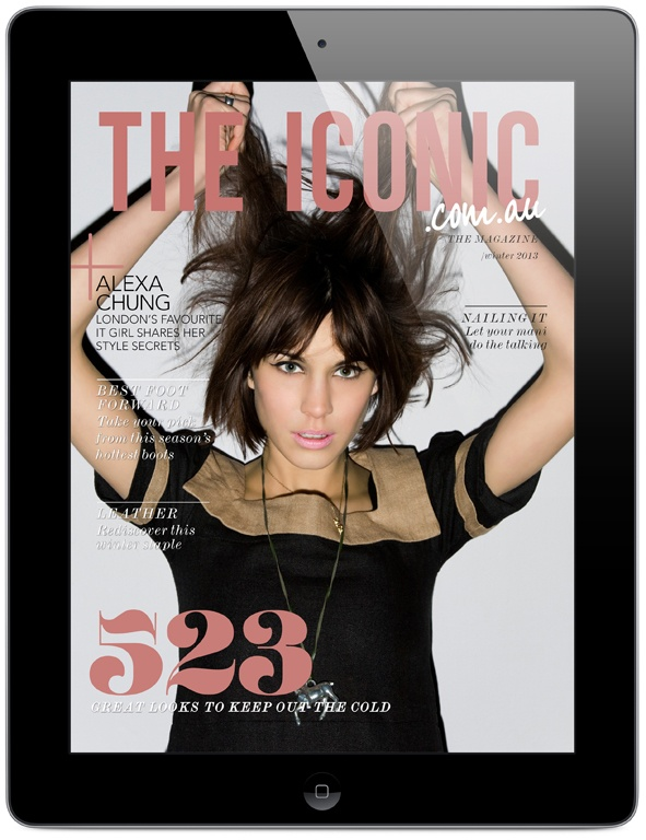 The new issue of THE ICONIC Magazine is out now! the Mag comes free with every purchase at THE ICONIC, or you can download and enjoy it on your ipad today!