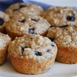 "Health Nut Blueberry Muffins I ""These muffins are delicious!! The walnuts and banana make them a little sweet and crunchy. I'll definitely be making these again soon."""