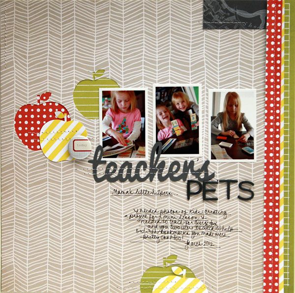layout by Davinie Fiero featuring our ABROAD line - love that she used it for a school layout!Scrapbook Ideas, Buckets Lists, Scrapbook Inspiration, Azure Sky, Studios Calico, Davinier Fiero, Teachers Pets, Scrapbook Layout, Sewing Machine
