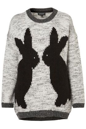 topshop: Rabbit, Style, Bunnies Sweaters, Women Sweaters, Knits Mirror, Mirror Bunnies, Bunnies Jumpers, Cutest Things Ever, Topshop