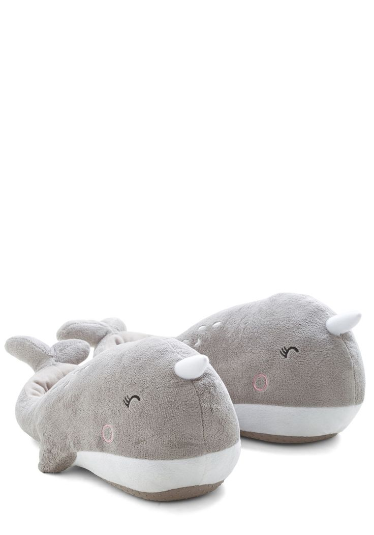 Sea-son to Snuggle USB Foot Warmers. Youre always in the mood for cuddling up, especially with these narwhal-shaped foot warmers! #grey #modcloth
