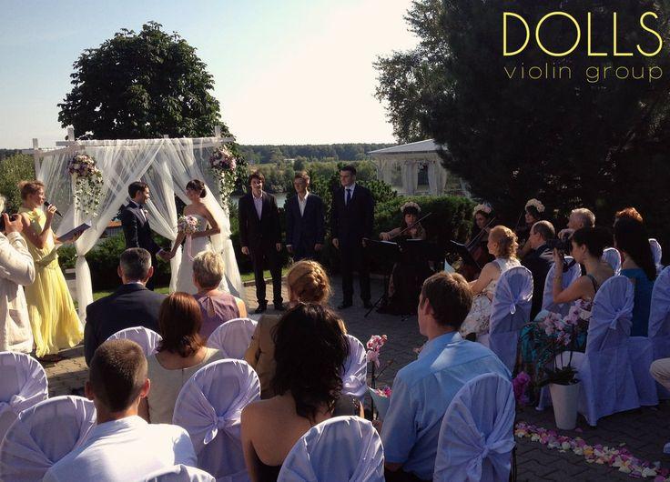 Свадебная церемония под звуки струнного трио Violin Group DOLLS