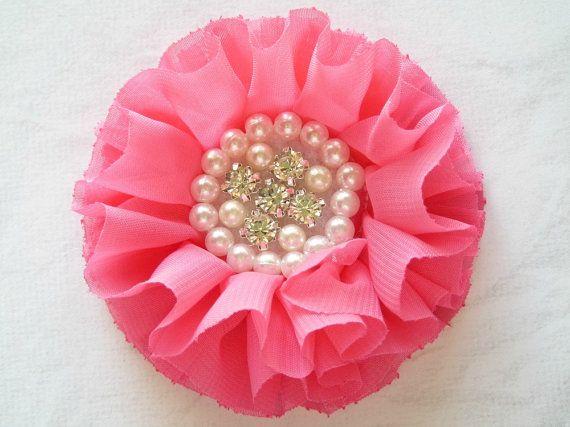 Hot Pink Flower Hot Pink Parisian Flower by LittleMissySupplies