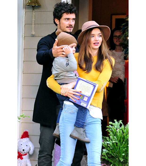 Miranda Kerr, Orlando Bloom + Flynn. They are actually so perfect!