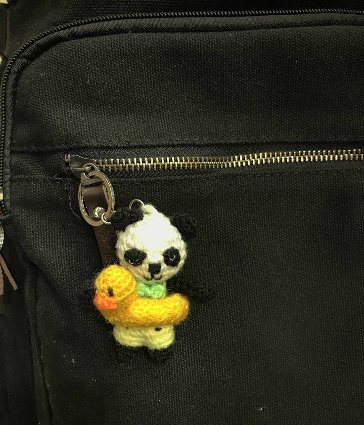 Crochet panda travelling to china with his owner