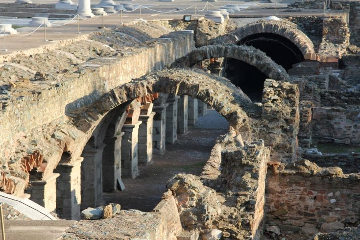 *GREECE ~ Roman Agora (or Forum) | Thessaloniki, Greece. --- Στοά, Ρωμαϊκή αγορά, Θεσσαλονίκη.