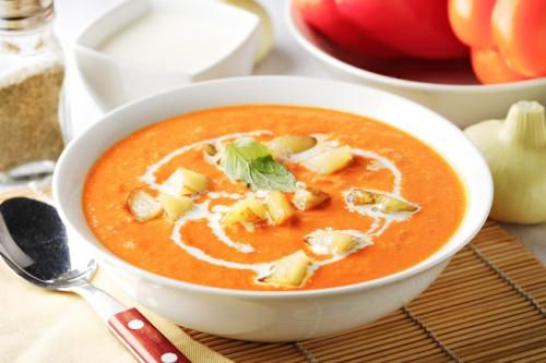 to try: roasted red pepper and lentil soup