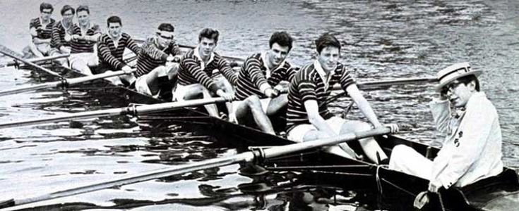 Stephen Hawking as a coxswain at Oxford 1961. Hawking claimed he became involved with rowing because he was bored of studying physics...