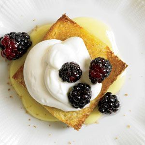 Blackberries with Lemon Cream and Toasted Brioche | Recipe ...