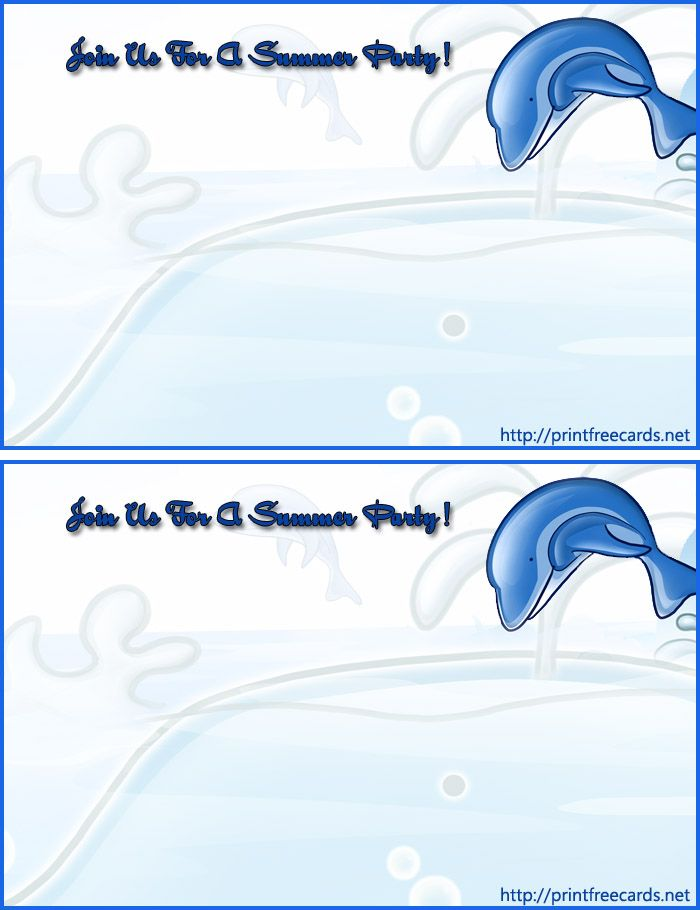 68 best images about invitation cards – Pool Party Invitations Printable