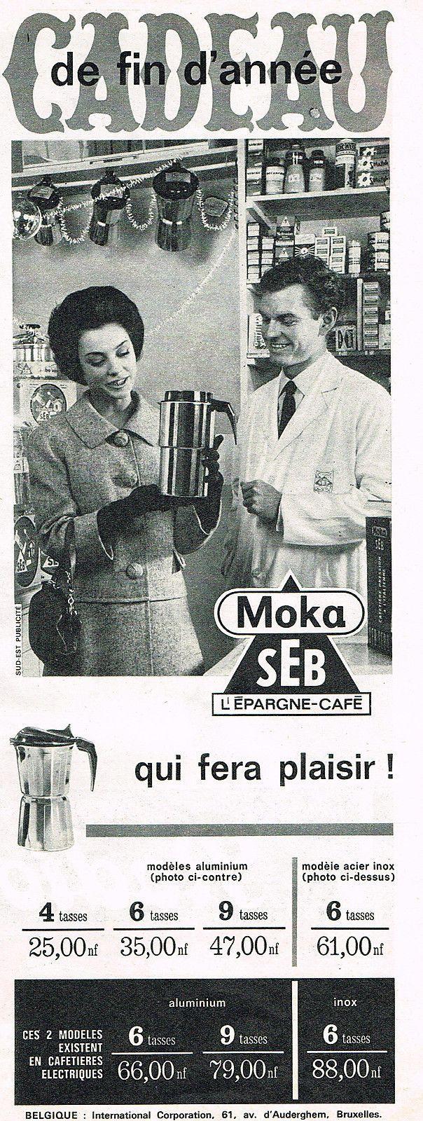 Publicite 1962 SEB Cafetière Moka | eBay