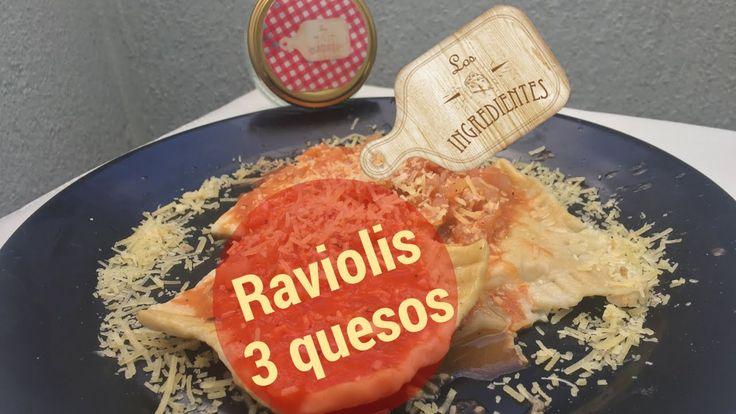 Raviolis tres quesos con salsa vegetariana tipo amatriciana _ Los Ingredientes.  En este video podrás ver una exquisita receta para preparar Ravolis con tres quesos y salsa vegetariana tipo amatriciana. Pregunta por nuestras salsas, las llevamos a tu casa.  Te invitamos a suscribirte en nuestro canal de Youtube: Los Ingredientes: https://www.youtube.com/channel/UCNoxMvQ4SOfYGX9hNrrq-Jg?sub_confirmation=1