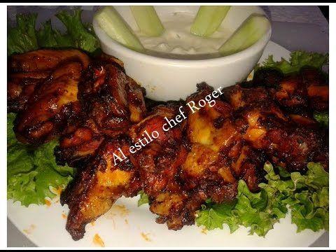 Alitas de pollo con salsa bbq - YouTube