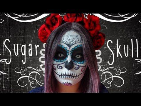 Sugar Skull Smink Halloweenre/Farsangra