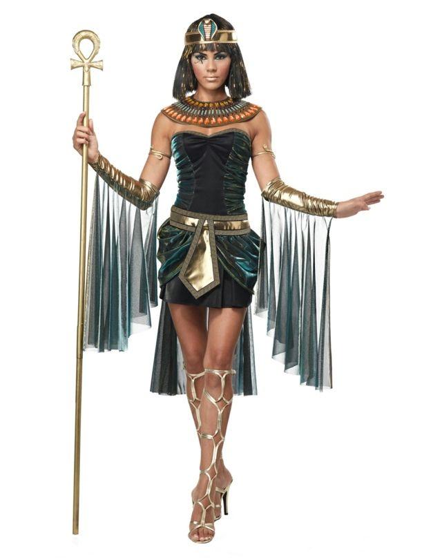 Pharaoh Ägypter Prinzessin mit Halloween Kostüm