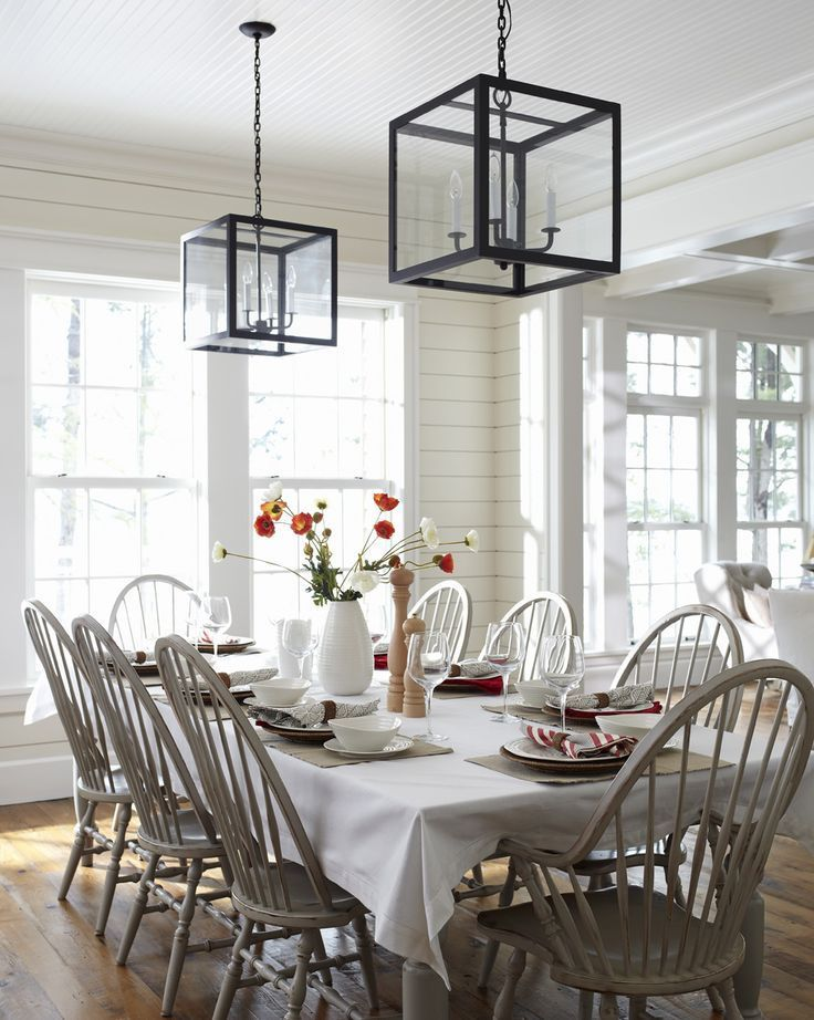 windsor chairs painted gray - nice update