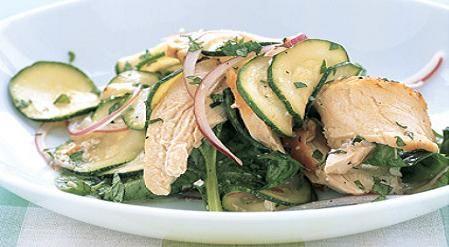 Liviana ensalada de calabacin y pollo