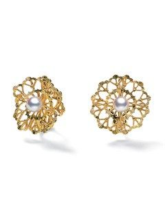 Lace Earrings Yellow Gold