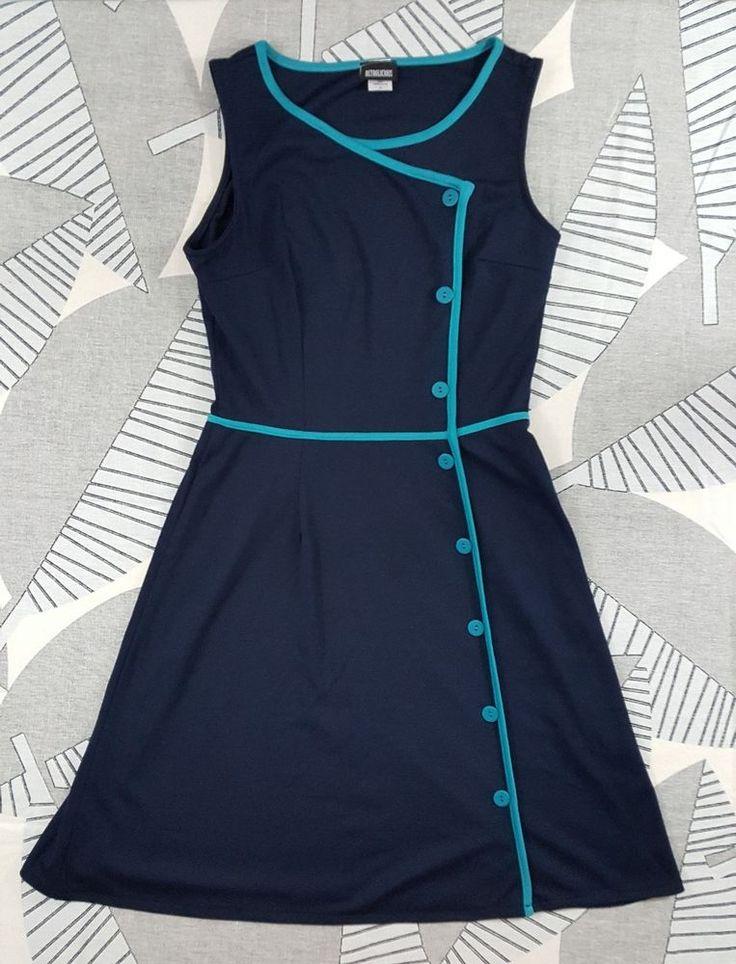 Retrolicious Modcloth Pinup 1950's Style Retro Rockabilly Blue Dress Sz Large | Clothing, Shoes & Accessories, Women's Clothing, Dresses | eBay!