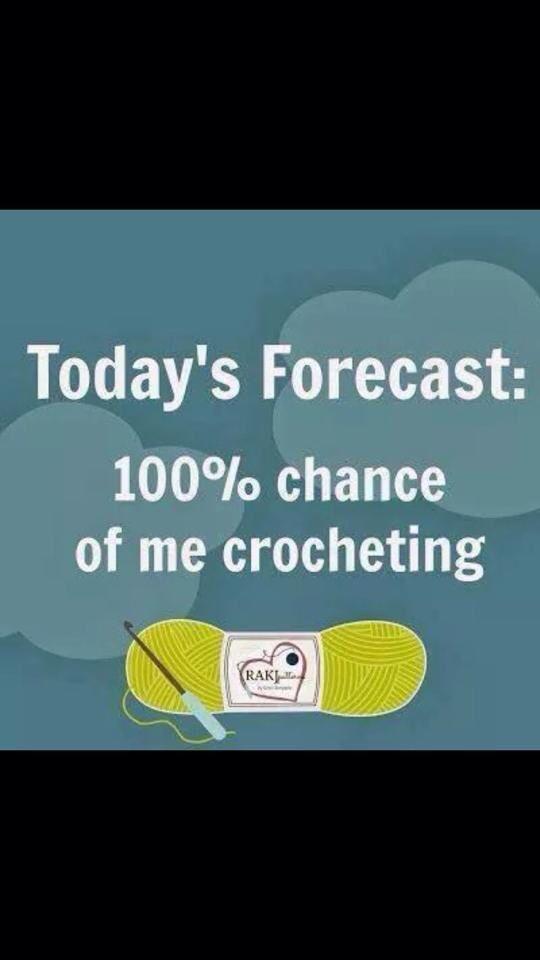 Clima para hoy! Perfecto para tejer!!