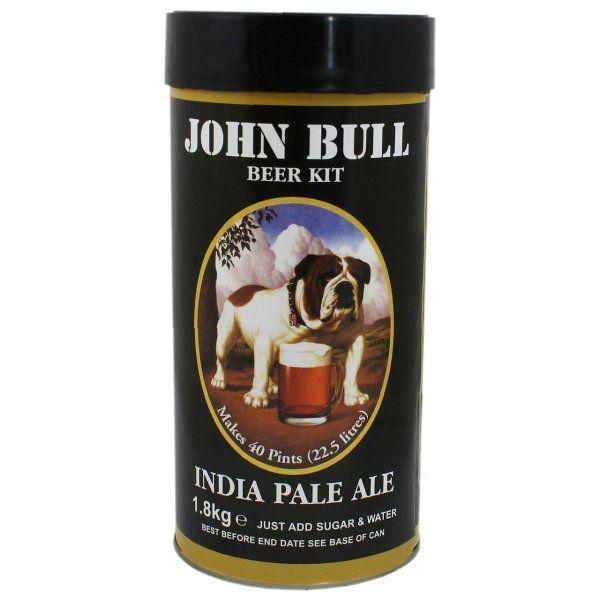 John Bull IPA 1.8kg  O bere britanica tulbure la origine facuta pentru Imperiul indian. Caracter puternic, o consistenta echilibrata. Hamei din plin, continut de alcool mai ridicat - peste 5%.  Acest kit va produce 23 de litri si necesita 1 kg de zahar. Pentru cele mai bune rezultate recomandam inlocuirea zaharului cu zahar pentru fermentare,  spraymalt sau extract de malt - disponibile in stoc.