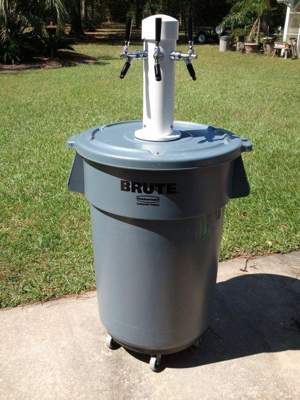 Trash can keg