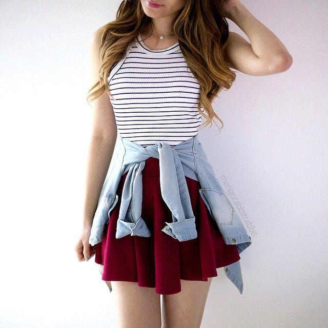 Para meninas de tudo quanto é estilo. amei como a jaqueta combinou com o visual