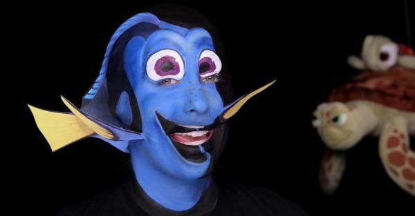 This 'Finding Dory' Makeup Transformation Will Haunt You