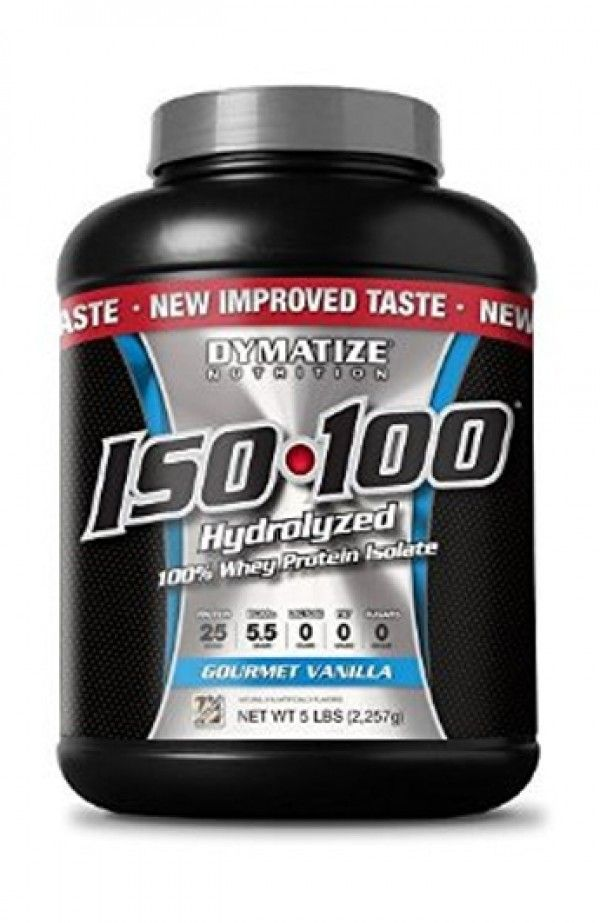 Dymatize Nutrition ISO 100 Whey Protein Powder - Gourmet Vanilla, 5 Lbs