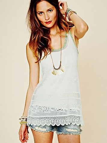 : Laceys Tunics, Lace Tunics, Concerts Outfits, White Shirts, Lacey Tunics, Free People, Pretty Tops, Jeans Shorts, Summer Tops