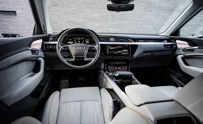 Audi E Tron Prototype Interior Revealed And It S Fancy Autoguide Com News Audi E Tron Audi New Suv