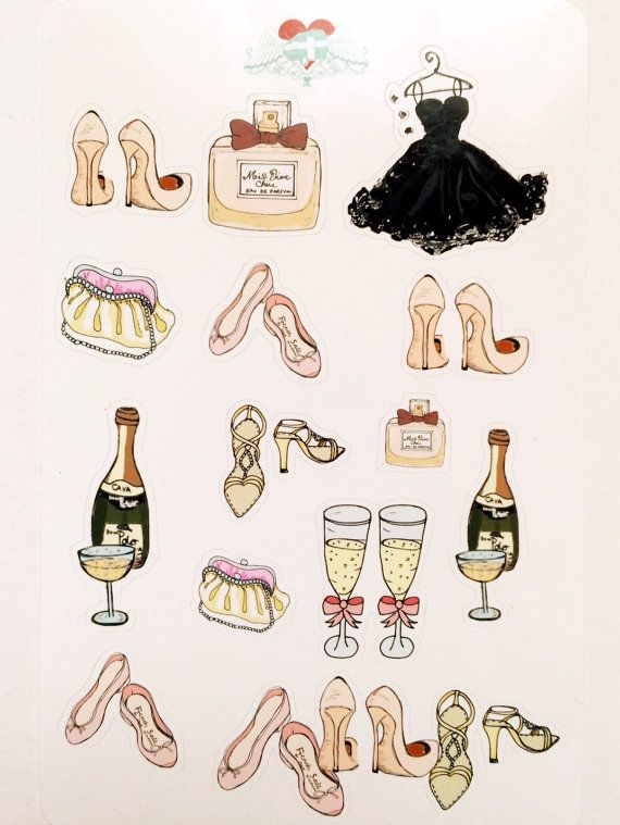 Frou Frou Stickers for your planner or just for fun.
