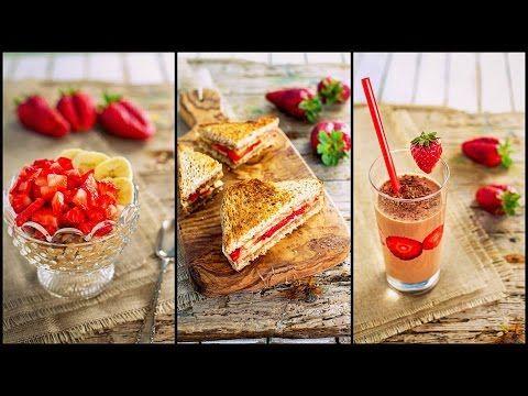 3 IDEE per la COLAZIONE SANA | Con fragole e banane FACILI VELOCI LIGHT | 3 healthy breakfast ideas - YouTube