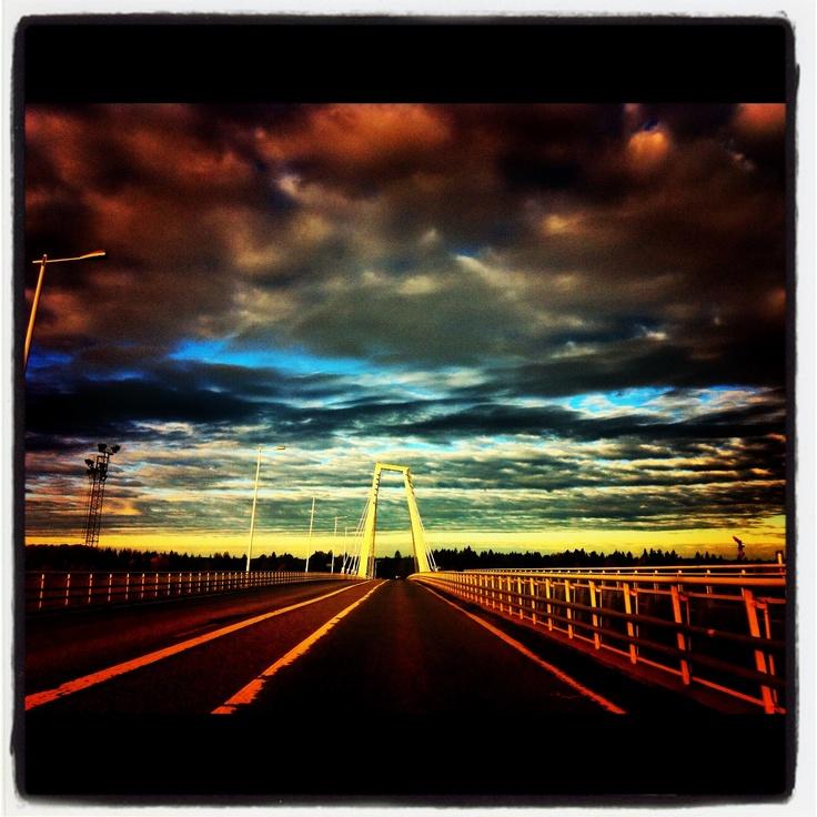 Kolbäcksbron Umeå Umeälven october