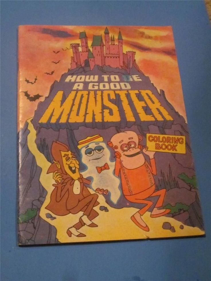 How to Be A Good Monster Coloring Book Count Chocula Frankenberry Cereal 1980'S | eBay