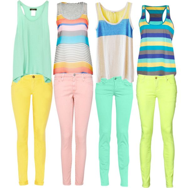 Skinnys and Tanktops. Summer styled brightly.
