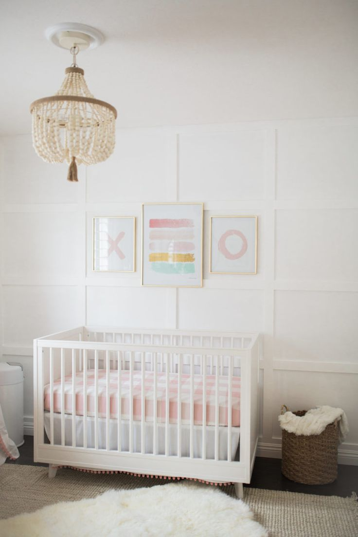 Zellers baby cribs - A White And Pink Baby Girl Nursery I Utilized Some Traditional And Modern Pieces For