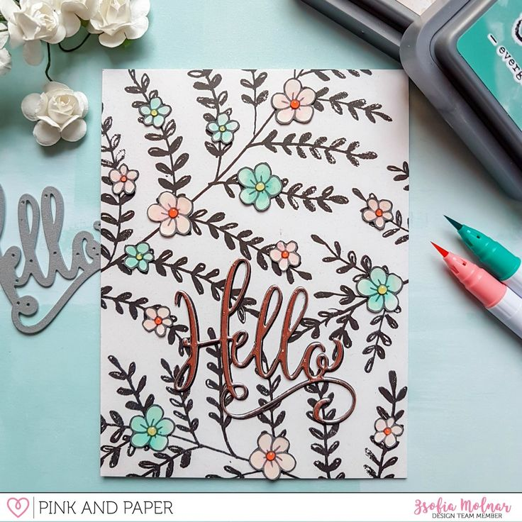 March Card Kit Inspiration - using small stamps | Zsofia Molnar